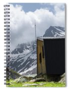Mountain Refuge Of Mount Viso Spiral Notebook