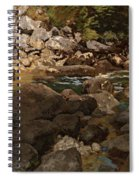 Mountain Stream With Boulders Spiral Notebook