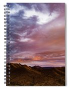 Mountain Sunset In New River Spiral Notebook