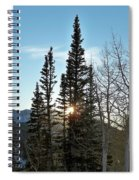 Mountain Sunset Spiral Notebook