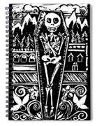 Mountain Town Skeleton Spiral Notebook