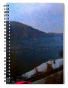 Mountain, Water And Road. Spiral Notebook