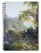 Mountainous Landscape Near Duesseldorf Spiral Notebook