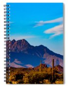 Mountains And Cactus Spiral Notebook
