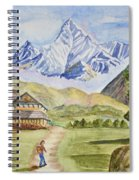 Mountains And Valley Spiral Notebook