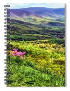 Mountains And Valleys Spiral Notebook