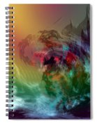 Mountains Crumble To The Sea Spiral Notebook