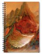 Mountains Fire Spiral Notebook