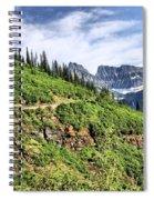 Mountains In Glacier National Park 1 Spiral Notebook