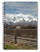 Mountains In Logan Utah Spiral Notebook
