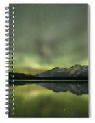 Mountains In The Northern Lights Spiral Notebook