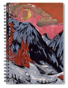 Mountains In Winter Spiral Notebook