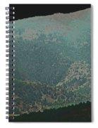 Mountains Peeking Through Spiral Notebook
