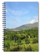 Mountains Sky And Homes In Village Of Swat Valley Khyber Pakhtoonkhwa Pakistan Spiral Notebook