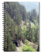 Mountains With Railroad And Tunnels  Spiral Notebook
