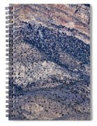 Mountainside Abstract - Red Rock Canyon Spiral Notebook
