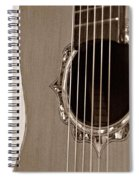 Mounted 6 String Spiral Notebook