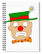 Mournful Clown Spiral Notebook
