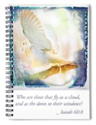 Mourning Dove About To Land On Tree Branch Spiral Notebook