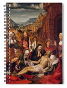 Mourning Over The Dead Body Of Christ Spiral Notebook