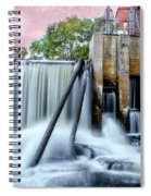 Mousam River Waterfall In Kennebunk Maine Spiral Notebook