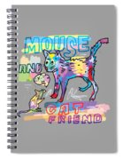 Mouse And Cat Friend Spiral Notebook
