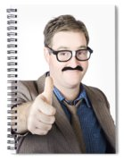 Movember Man Proud Of His Moustache Spiral Notebook