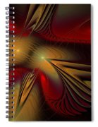 Movement Of Red And Gold Spiral Notebook