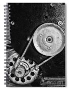 Movie Projector Gears In Black And White Spiral Notebook