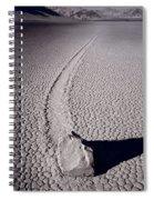Moving Rocks Number 2  Death Valley Bw Spiral Notebook