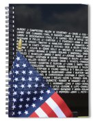 Moving Wall - Vietnam Memorial Spiral Notebook