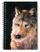 Moving Wolf Spiral Notebook