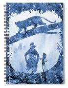 Mowgli, Baloo And Bagheera-blue Spiral Notebook
