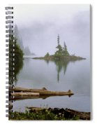 Mowich Lake In Fog  Spiral Notebook