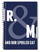 Mr And Mr And Cat Spiral Notebook