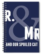 Mr And Mrs And Cat Spiral Notebook