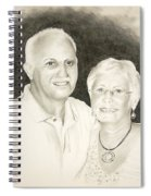 Mr And Mrs B Spiral Notebook