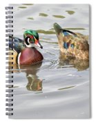 Mr. And Mrs. Wood Duck Spiral Notebook
