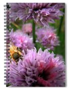 Mr Bee On My Chives Spiral Notebook