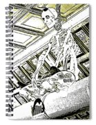 Mr Bones In Black And White With Sepia Tones Spiral Notebook