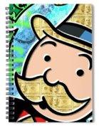 Mr Monopoly Spiral Notebook