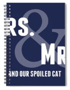 Mrs And Mrs And Cat- Blue Spiral Notebook