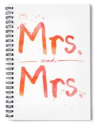 Mrs And Mrs Spiral Notebook
