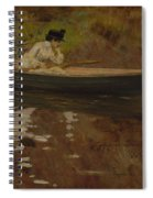 Mrs. Chase In Prospect Park , William Merritt Chase Spiral Notebook