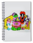 Mrs. Mouse Tea Party Spiral Notebook