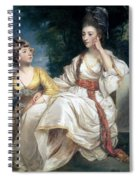 Mrs Thrale And Her Daughter Hester Spiral Notebook