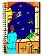 Ms Cleo On A Balcony In Paradise Spiral Notebook
