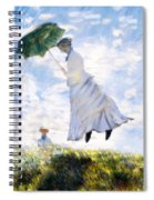 Ms Monet Blown Away  Spiral Notebook