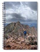 Mt Eolus And The Catwalk From North Eolus - Chicago Basin - Weminuche Wilderness - Colorado Spiral Notebook