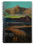 Mt Hood With Paper Mill Spiral Notebook